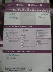 Forever C9 - Clean 9 program napló - 1. nap - c9 diéta