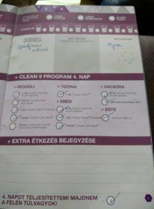 Forever C9 - Clean 9 program napló - 4. nap - c9 diéta