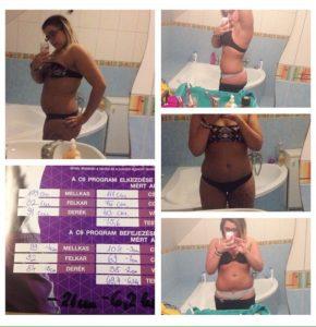 Bella FLP C9 program, diéta eredmények