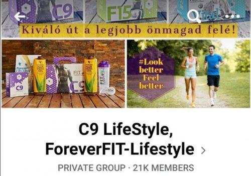 Forever C9 Facebook VIP csoport