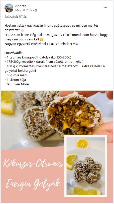 forever c9 recept - kókuszos citromos energiagolyók